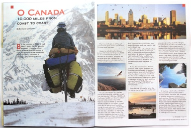 Article dans le magazine Canadian World Traveller
