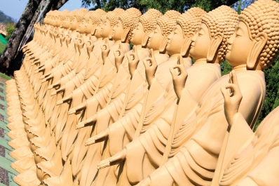 Statues de bouddha dans un temple à Foz d'Iguazu (Parana, Brésil) ©Bertrand Lemeunier