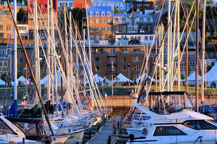 Marina dans le Vieux-Québec, site du Patrimoine mondial de l'UNESCO (Québec, Canada) ©Bertrand Lemeunier