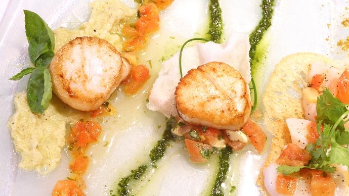 Gastronomie et savoureuses pétoncles (Québec, Canada) ©Bertrand Lemeunier