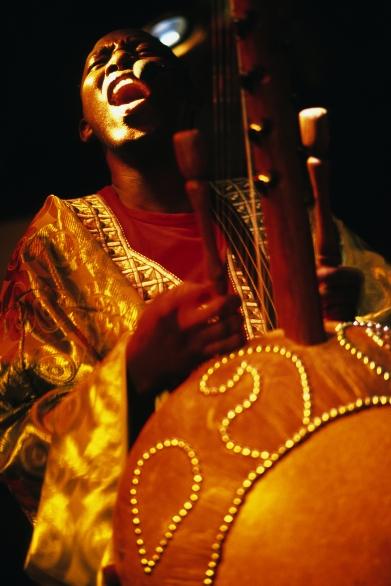 Festival International des Nuits d'Afrique à Montréal, joueur de kora (Québec, Canada) ©Bertrand Lemeunier