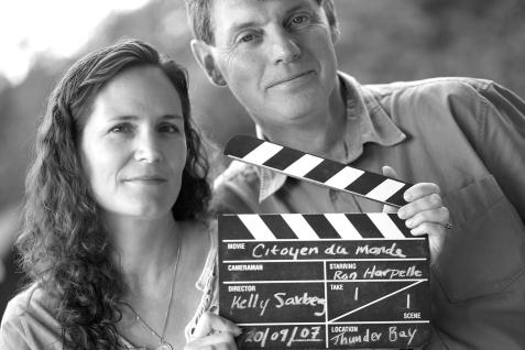 Portrait de la cinéaste Kelly Saxberg avec l'historien Ron Harpelle (Thunder Bay, Ontario, Canada) ©Bertrand Lemeunier