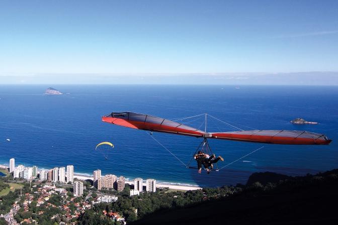Saut en deltaplane et parapente à Rio de Janeiro (Brésil) ©Bertrand Lemeunier