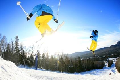 Ski acrobatique au Mont Grand-Fonds, Charlevoix (La Malbaie, Québec) ©Bertrand Lemeunier