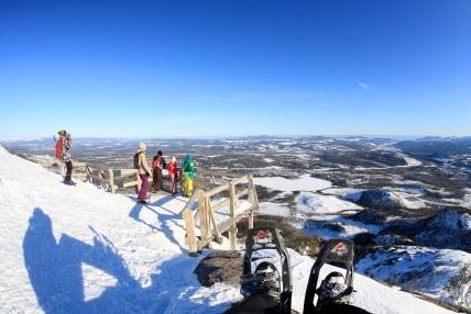 Randonnée hivernale au Mont du Lac-des-Cygnes, Charlevoix (Québec, Canada) ©Bertrand Lemeunier