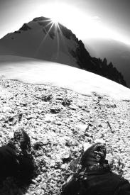 Randonnée solitaire à la Dent Parrachée (3697m), Massif de la Vanoise, Alpes (France) ©Bertrand Lemeunier