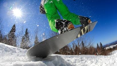 Vive l'effet fish eye et vive les joies de l'hiver au Massif du Sud (Québec, Canada)