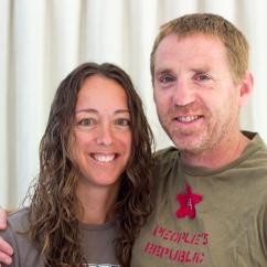 Nigel et sa copine, une belle surprise à Arrowtown, où nous étions à la recherche d'un endroit où dormir. Ils nous ont invité chaleureusement dans leur nouvelle maison! Merci!