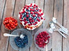 Excellent dessert chez la famille Davidson! Des bleuets et framboises du jardin!