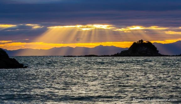 Lever de soleil depuis Bark Bay
