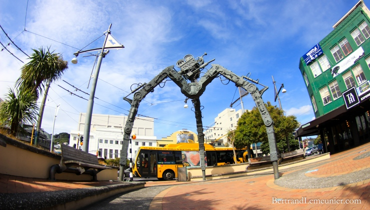 Weta Workshop were commissioned to create Tripod (2005) to celebrate Wellington's film and television industry.